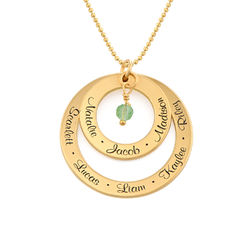 Grandmother Birthstone Necklace in Gold Plating product photo