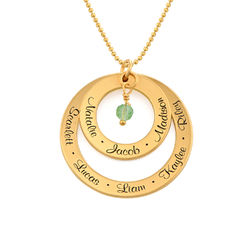 Grandma Birthstone Necklace in Gold Vermeil product photo