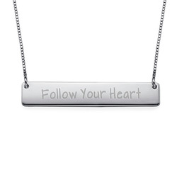 Follow Your Heart Inspirational Bar Necklace product photo