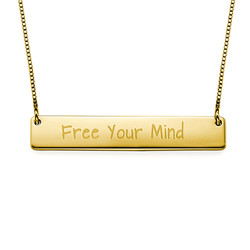 Inspirational Gifts - Free Your Mind Bar Necklace product photo