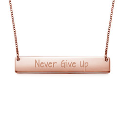 Never Give Up Inspirational Necklace product photo