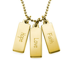 Hope Love Faith Inspirational Bar Necklace product photo