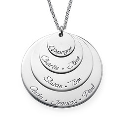 Engraved Mom Necklace with Four Discs product photo