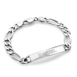 Sterling Silver Men's ID Bracelet product photo