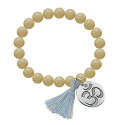 Yoga Jewelry - Engraved Om Bead Bracelet product photo