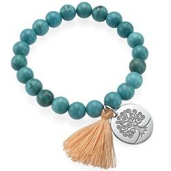 Tree of Life Yoga Bead Bracelet product photo