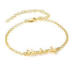 Name Anklet in Gold Vermeil product photo
