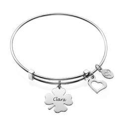 Bangle Charm Bracelet with Clover product photo