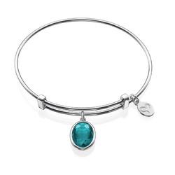 Bangle Charm Bracelet with Personalized Stone product photo