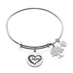 Mom Charm Bangle Bracelet product photo