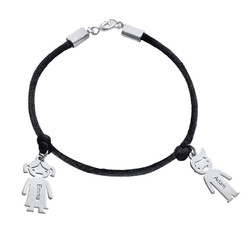 Silver Mothers Bracelet with Engraved Children Charms product photo