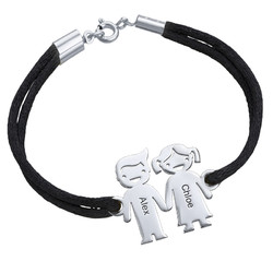 Kids Holding Hands Charms Bracelet product photo