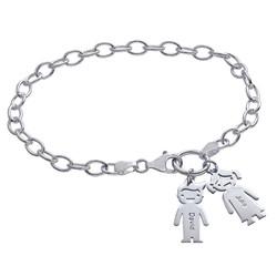 Charm Bracelet with Kids Pendants product photo