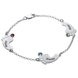 Baby Feet Bracelet with Engraving product photo
