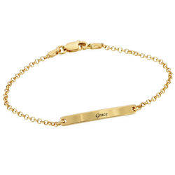 Women's ID Bracelet in Gold Plating product photo