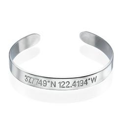 Coordinates Bangle Bracelet product photo