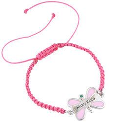 Butterfly Personalized Friendship Kids Bracelet product photo