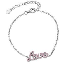 Love Adjustable Inspirational Bracelet in Silver product photo