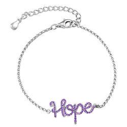 Hope Adjustable Inspirational Bracelet in Silver product photo