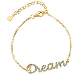 Dream Adjustable Inspirational Bracelet in Gold Plating product photo