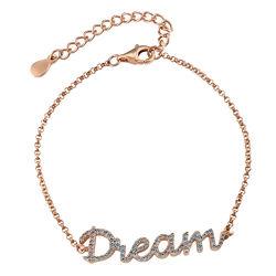 Dream Adjustable Inspirational Bracelet in Rose Gold Plating product photo