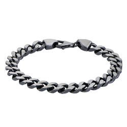 Men Curb Chain Bracelet in Sterling Silver product photo