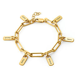 Rory Chain Link Bracelet with Custom Charms in 18K Gold Vermeil product photo