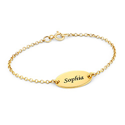 18k Gold-Plated Baby Name Bracelet product photo