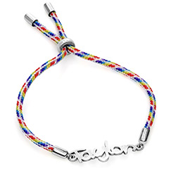 Name Cord Bracelet for Kids in Sterling Silver product photo