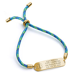 Medical ID Bracelet for Kids in 18K Gold Plating product photo