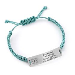 Kids Medical Alert Bracelet for Boys in Sterling Silver product photo