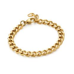 Harper Cuban Link Bracelet in Gold Plating product photo