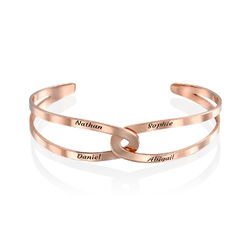 Hand in Hand - Custom Bracelet Cuff in Rose Gold Plating product photo
