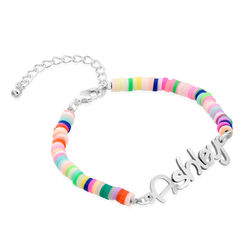 Rainbow Magic Girls Name Bracelet in Sterling Silver product photo