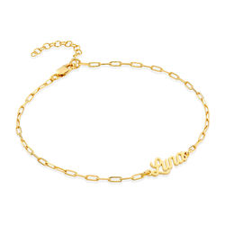Custom Paperclip Name Bracelet/Anklet in Gold Vermeil product photo