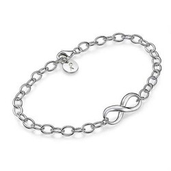Infinity Bracelet in Sterling Silver product photo