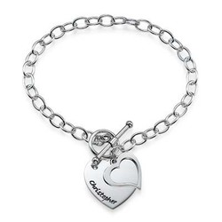 Double Heart Charm Bracelet product photo