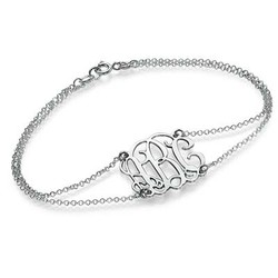 Monogrammed Bracelet with Double Chain product photo