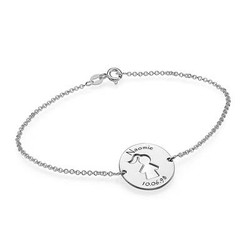 Cut Out Kid's Bracelet in Silver product photo