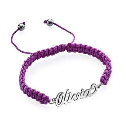 Cord Name Friendship Bracelet product photo