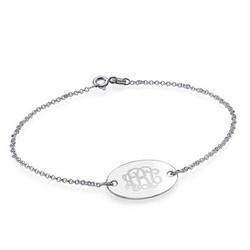 Engraved Oval Monogram Bracelet product photo