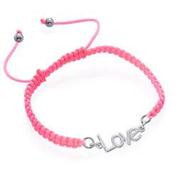 Name Bracelet on Cord product photo