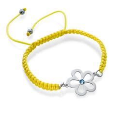 Flower Bracelet with Birthstone product photo