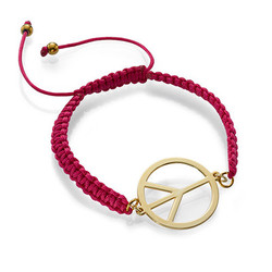 Peace Sign Cord Bracelet product photo