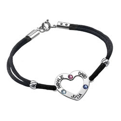 Heart Bracelet with Birthstones product photo
