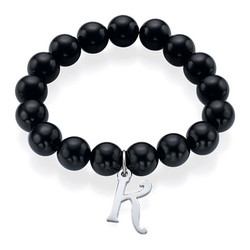Bead Bracelet with Initial product photo