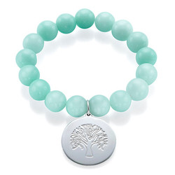 Beaded Bracelet with Family Tree Charm product photo