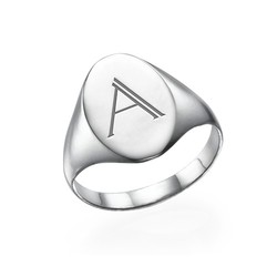 Initial Signet Ring in Sterling Silver product photo