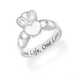 Irish Claddagh Ring with Engraving product photo