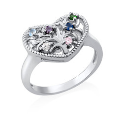 Heart Shaped Birthstone Ring product photo